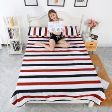 Bed Sheet + 2pcs Pillow Case Home  Decor Textile Bedding Coverlet Flat Flower Cover Soft Warm Bedsheets