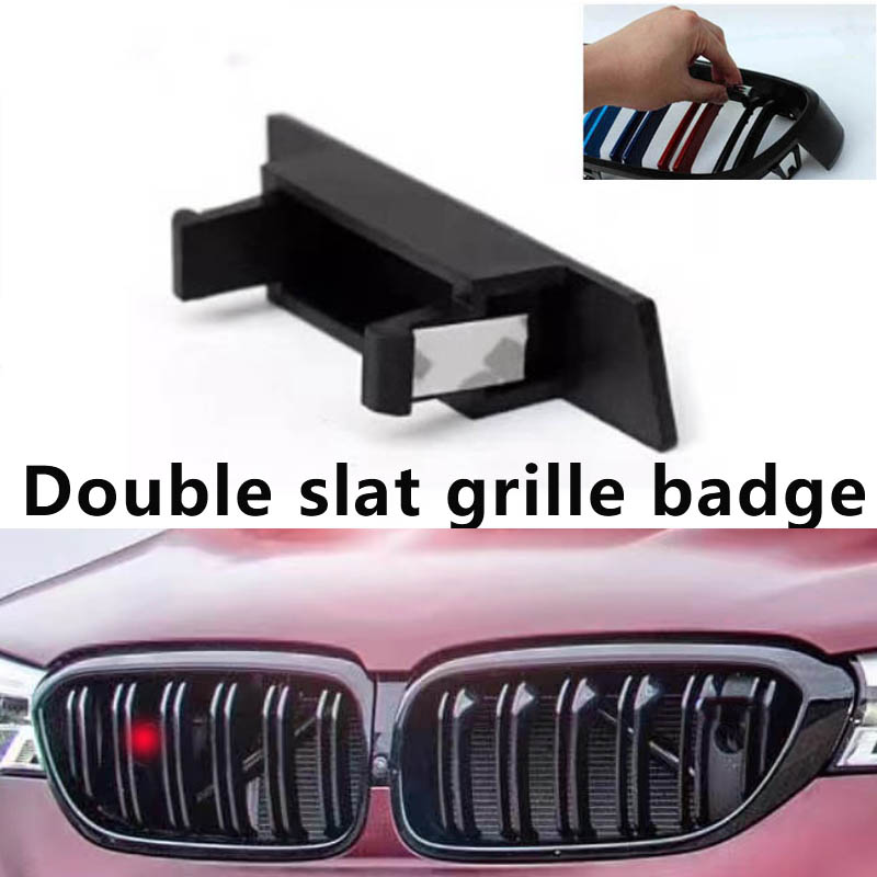 Double Slat Front Grille Badge For M5 F10 F07 G30 E60 M3 F30 E90 M2 F22 F24 M4 F32 M6 F06 F12/13 X5 F15 X6 F16 X3 X4F25F26 X1F48