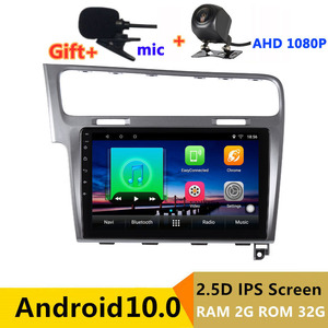 2 din android 10 car radio auto stereo for Volkswagen VW golf 7 mk7 2013 2014 2015 - 2018 navigation GPS DVD Multimedia Player(China)