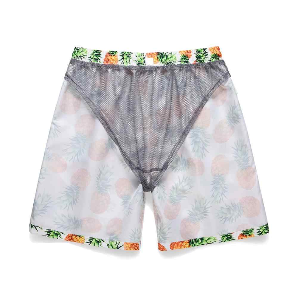 Letni mężczyzna zestaw szortów moda plaża ananas koszula szorty Surfing bermudy Masculina drukuj męskie szorty dwa kawałki dres