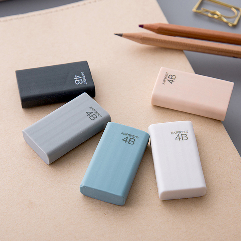 2pcs 4B Eraser Pencil Eraser School Supplies 4B Pencil Eraser Students Stationery Rubber Remove Intensity 4B Pencil Size Cleanly