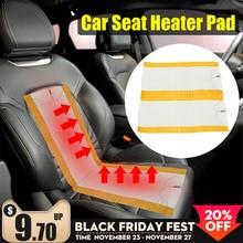 2 adet 12V evrensel araba ısıtmalı koltuk kapakları Pad karbon Fiber ısıtmalı oto araba koltuğu isıtma pedi kış isıtıcı isıtıcı mat