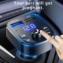 Auto Handsfree Draadloze Bluetooth Fm-zender MP3 Charger Dual Uitgerust Speler Bluetooth Led Display Dual Usb Autolader