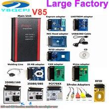 Iprog + v85 iprog pro programador com adaptadores de sondas para em-circuito ecu suporte immo + correção de quilometragem + airbag reset até 2019
