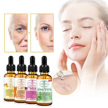 30ml Aloe Vera Carrot Snail Eggs Collagen Vitamin Face Serum Moisturizing Anti-Wrinkle Oil Control Acne Affter-Sun Repoir недорого