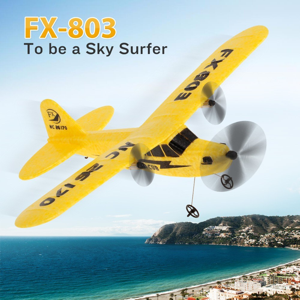 <font><b>FX</b></font>-<font><b>803</b></font> 2.4G 2CH 340mm Wingspan Remote Control Glider Fixed Wing RC Airplane Aircraft RTF image