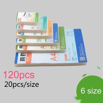 100mic 6 rozmiar (3 #8222 5 #8221 6 #8222 7 #8221 8 #8222 A4) folia do laminowania termicznego PET + EVA Plastifieuse 120 sztuk na laminator rolowy plastik plastificadora tanie i dobre opinie YOAINGO Pokrowiec laminatora