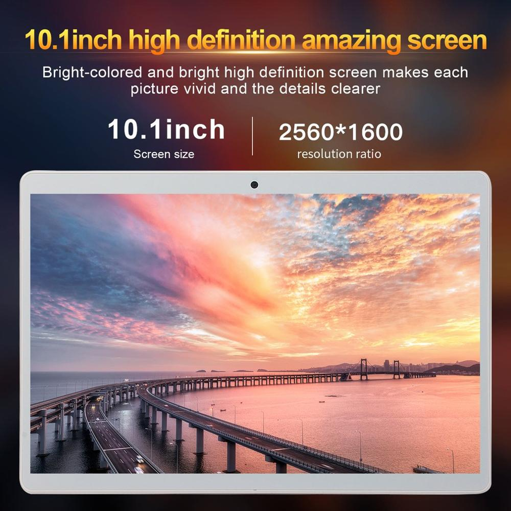 P10 Classic Tablet 10.1 Inch HD Large Screen Android 8.10 Version Fashion Portable Tablet 1G+16G White Tablet