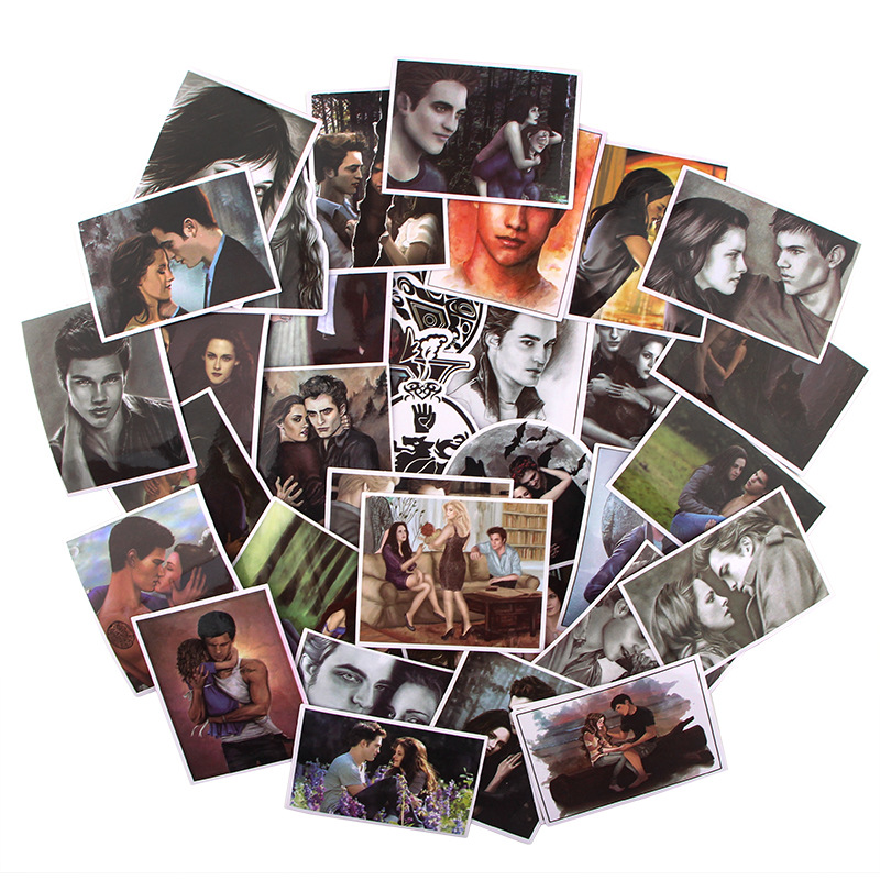 35pcs/set Movie The Twilight Saga Scrapbooking Stickers Decal For Guitar Laptop Luggage Car Fridge Graffiti Sticker