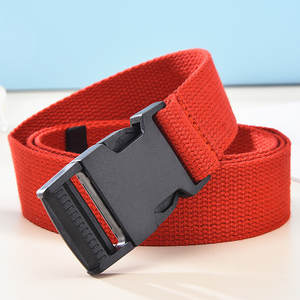 Cloth Tactical-Belt Women Buckle Brand Luxury Trend Casual Solid with New Outdoor Can-Adjust