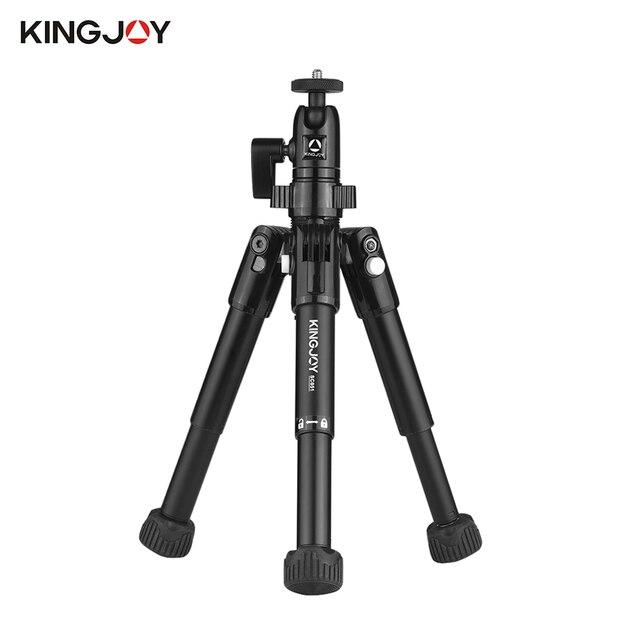 "KINGJOY SC051 18 ""شوّاية منضديّة صغيرة قابلة للطي حامل ثلاثي متنقل حامل ث/دوار الكرة رئيس لكانون نيكون سوني DSLR كاميرا صغيرة ترايبود"