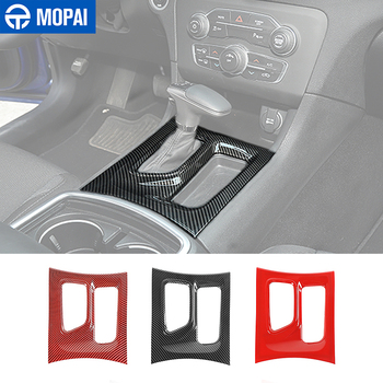 MOPAI Interior Mouldings ABS Car Gear Shifter Panel Decoration Cover Stickers Accessories for Dodge Charger 2015+
