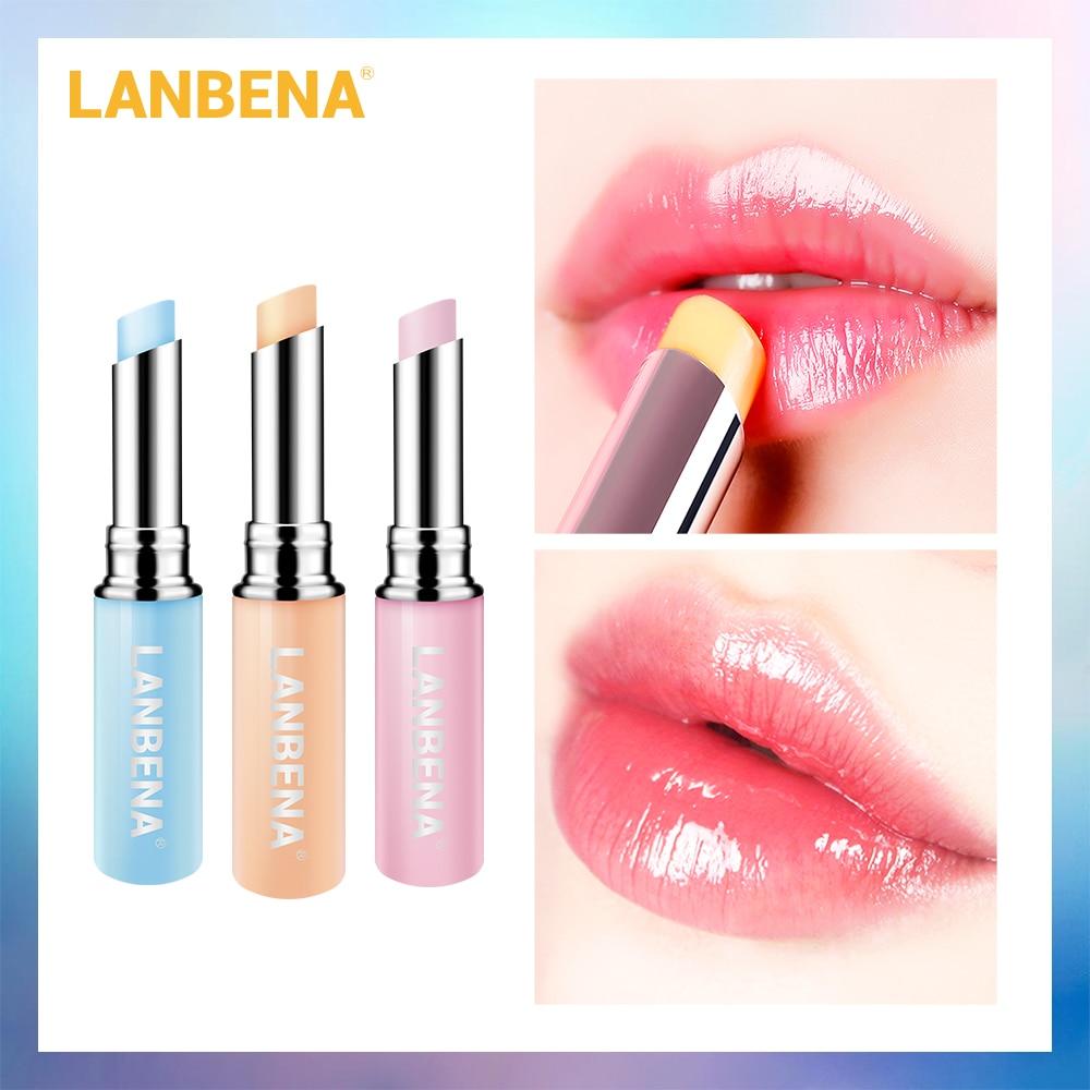 LANBENA Chameleon Lip Balm Rose Hyaluronic Acid Moisturizing Nourishing Lip Plumper Lip Lines Natural Extract Makeup Lipstick