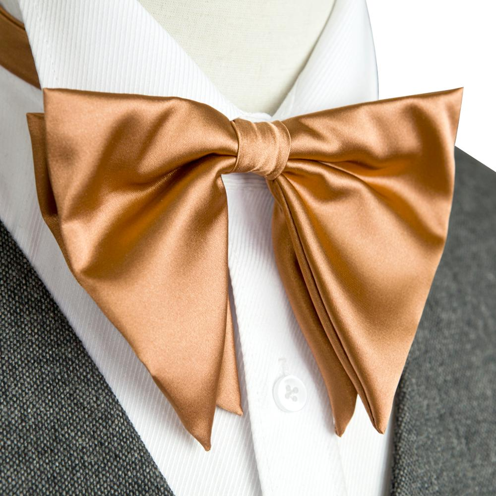 Tuxedo Big Bow Tie Pre-tied Adjustable Paisley Solid Floral Champagne Bronzed Orange Multicolor Mens Silk Bowties Bowknot