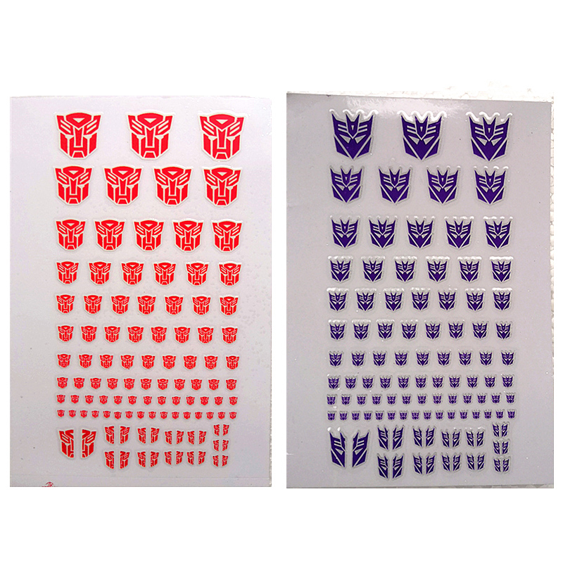 Decepticons Autobots G1 90+ Symbol Sticker Decal For Custom COOL DIY Scene Accessories 0.6*0.6--1.5*1.5Cm Decoration Kids Gifts