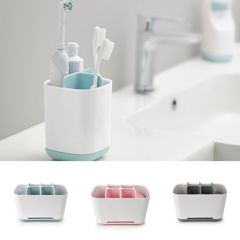New Toothbrush Toothpaste Holder Case Shaving Makeup Brush Electric Toothbrush Holder Organizer Stand Bathroom Accessories(China)