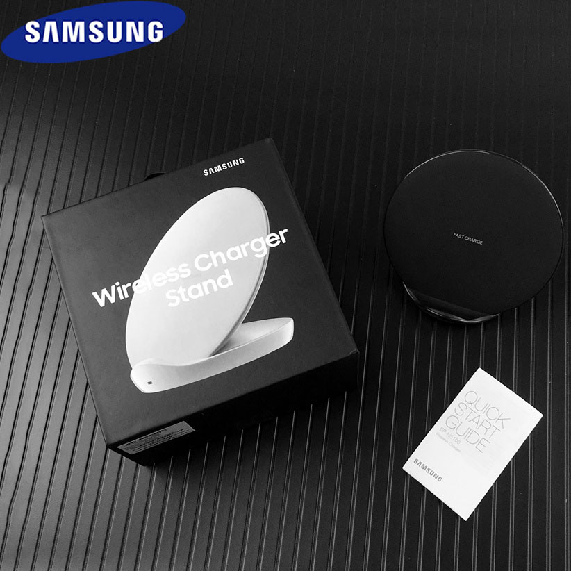 Original Samsung qi Wireless Charger & quick fast charge adapter For Galaxy S10 S9 S8 + Note 10 9 8 + iPhone X XR XS 8EP-N5100 (