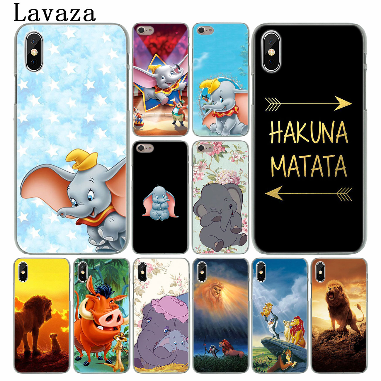 Lavaza Cartoon The <font><b>lion</b></font> <font><b>king</b></font> Dumbo Hard Phone <font><b>Case</b></font> for <font><b>iPhone</b></font> XR XS X 11 Pro Max 10 7 8 <font><b>6</b></font> 6S 5 5S SE 4S 4 Cover image