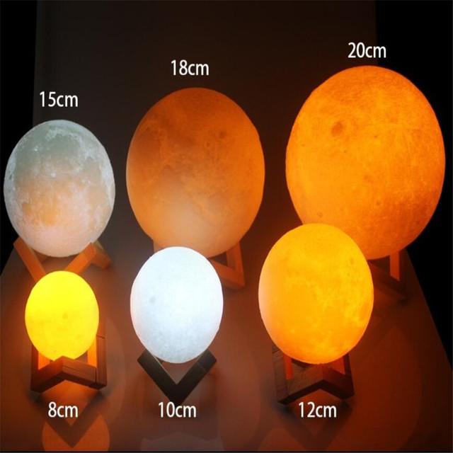 3D Photo Moon Lamp