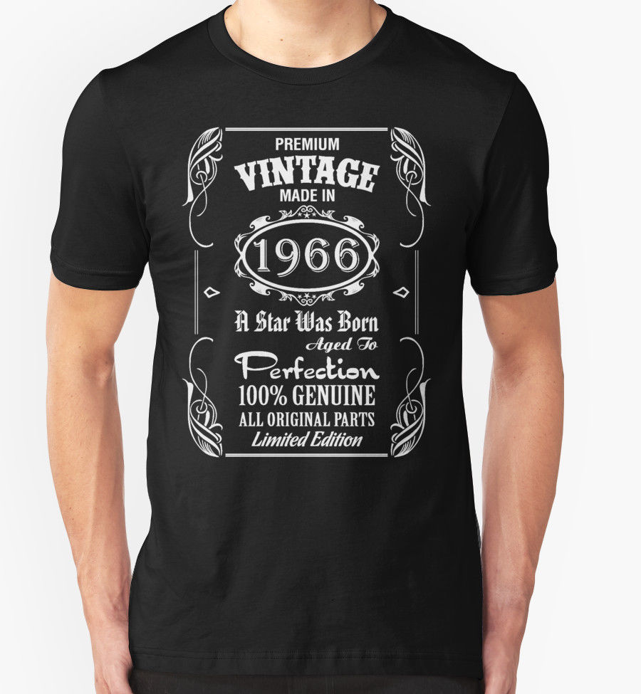Summer Style Fashion Men'S Casual Short Sleeved T Shirt Made In 1966 T Shirt 50Th Birthday Is Now Retro Funny Tee Shirt