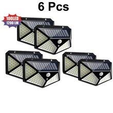 100 LED Solaire Lumière Extérieure Lampe Solaire Alimenté Par Lumière Solaire Étanche capteur DE Mouvement PIR Réverbère pour la Décoration De Jardin