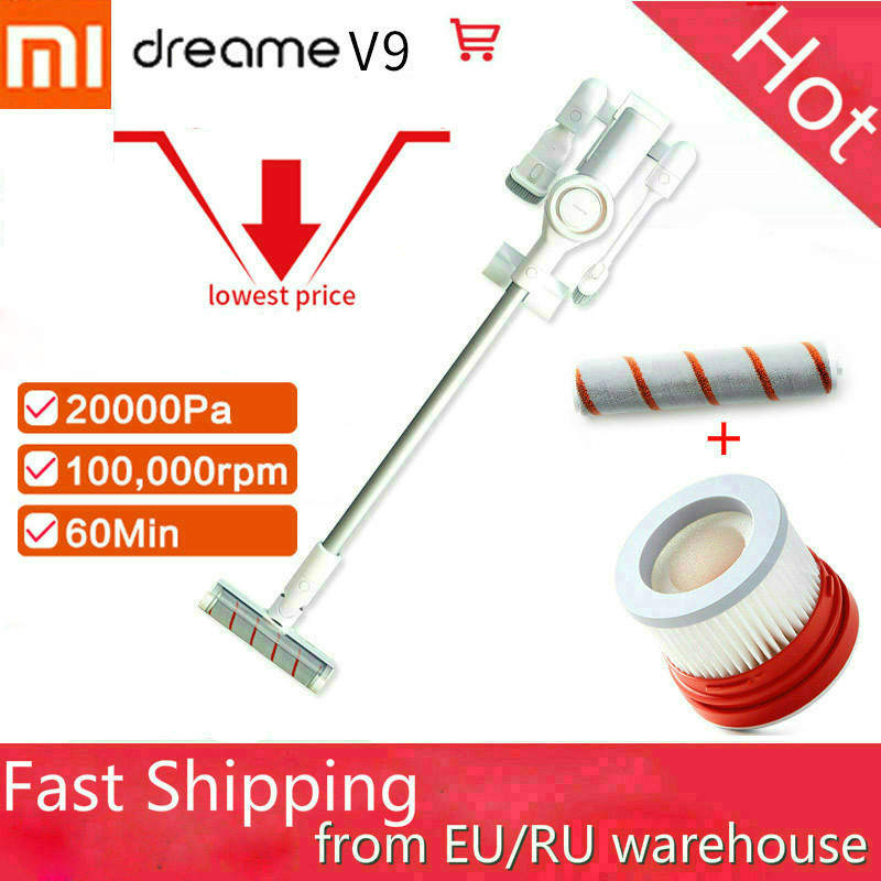 Fast ship Xiaomi Dreame V9 Cordless Vacuum Cleaner Dust Collector wireless mi robot 20000Pa Suction Home Car Carpet cleaning-in Vacuum Cleaners from Home Appliances