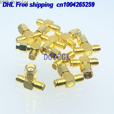 DHL 100pcs Conversion Adapter RPSMA male to 2x RPSMA F for Antenna connector 22-ct