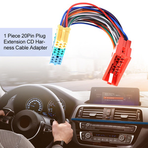 Image 3 - 1 Pcs Car Mini ISO 20Pin Plug Extension CD Harness Cable Adapter Anti electromagnetic Interference For VW Audi A2 A3 A4 A6 TT