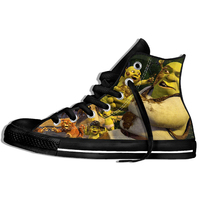Shrek shoes funny casual shoes hip hop 3D printed high top shoes new 2019 for men and women