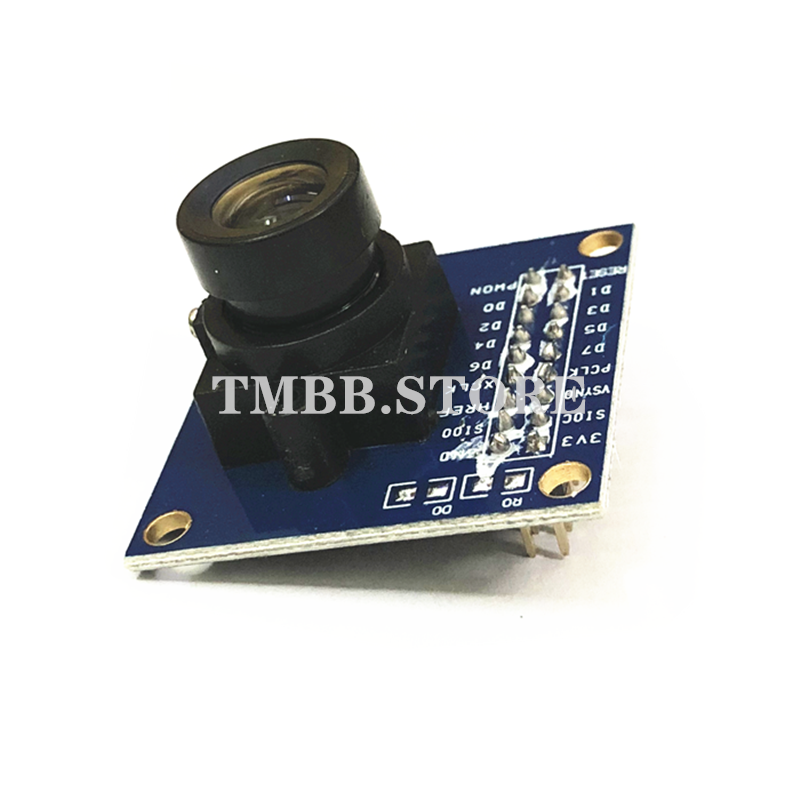 1PCS Guaranteed New Blue OV7670 300KP VGA Camera Module For Arduino STM32 Driver Microcontroller