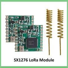 Módulo lora sx1276 chip 2 pces 868mhz super baixa potência rf comunicação de longa distância receptor e transmissor spi iot + 2pcs antena