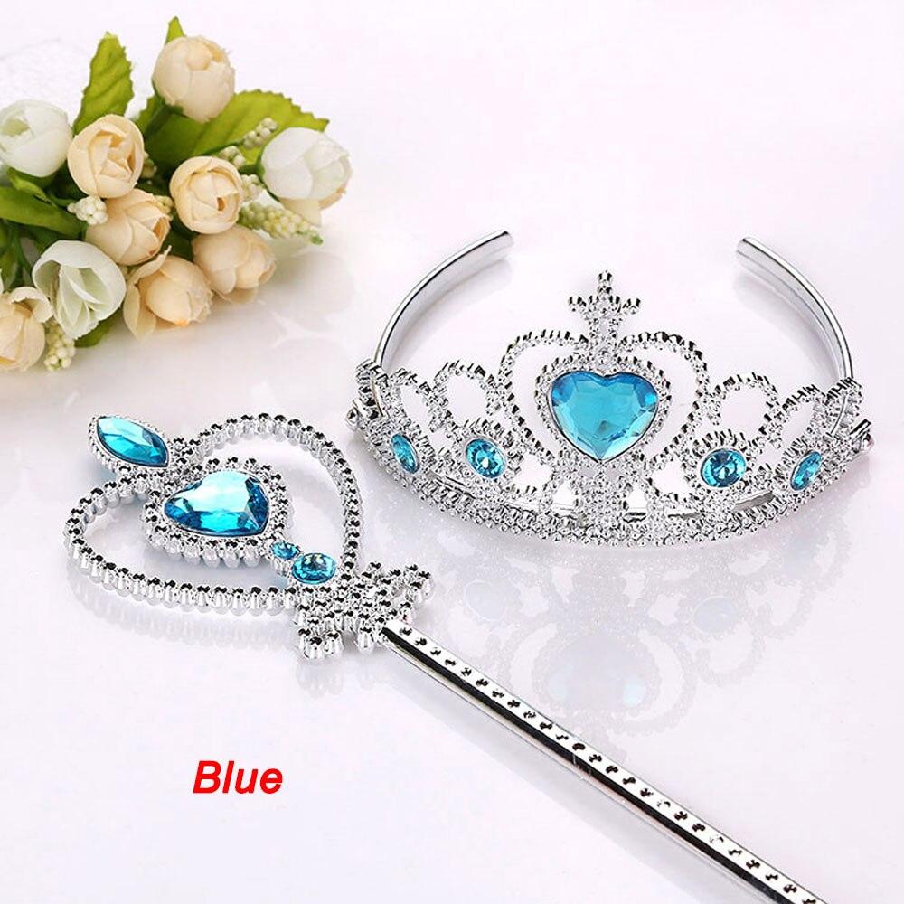 2 шт./компл. новое платье принцессы тиара аксессуары, ювелирное изделие для детей короны волшебные палочки для девочек для рождественской ве...