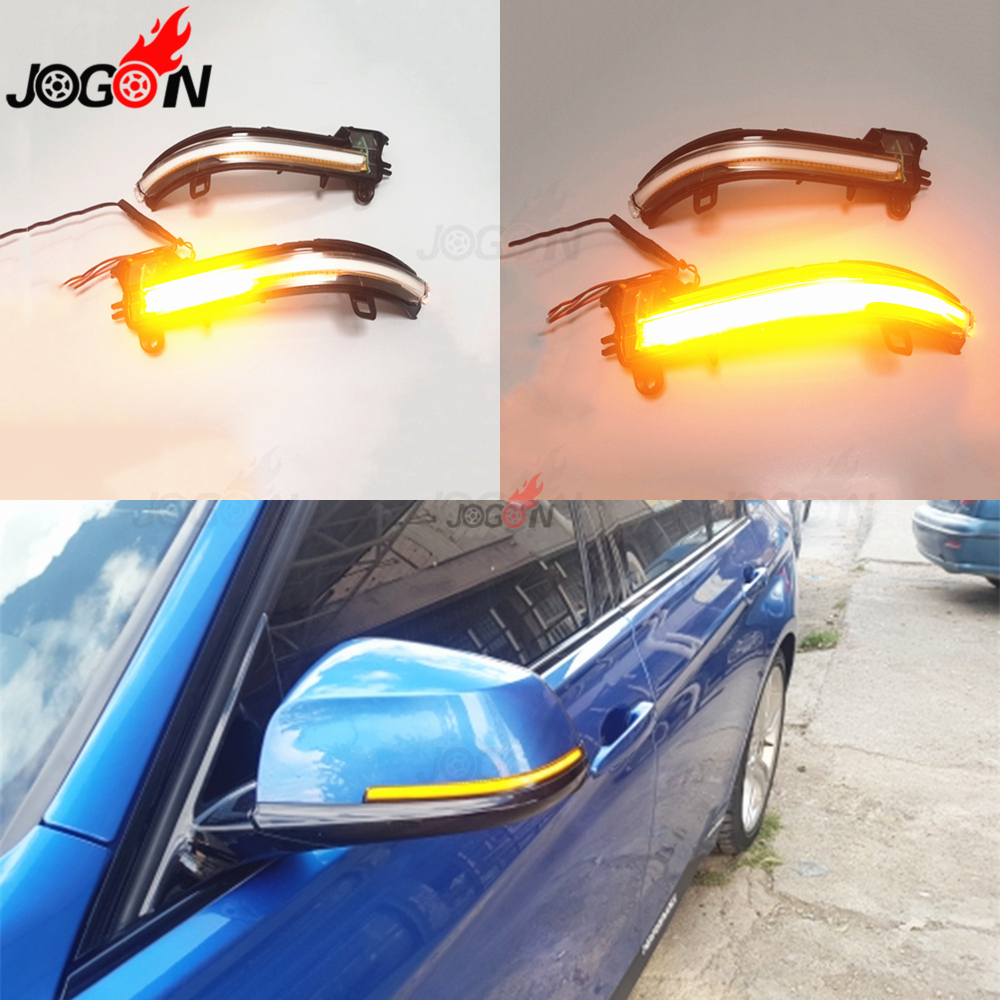 <font><b>LED</b></font> Dynamic Indicator Blinker Mirror For <font><b>BMW</b></font> 1 2 3 4 Series X1 E84 F20 F21 F23 <font><b>F30</b></font> F31 F34 F32 F87 i3 Turn Signal Light White image
