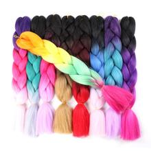 Braiding Hair Jumbo-Box Crochet Purple Synthetic Blonde Pink 100g for Daily Party 24-