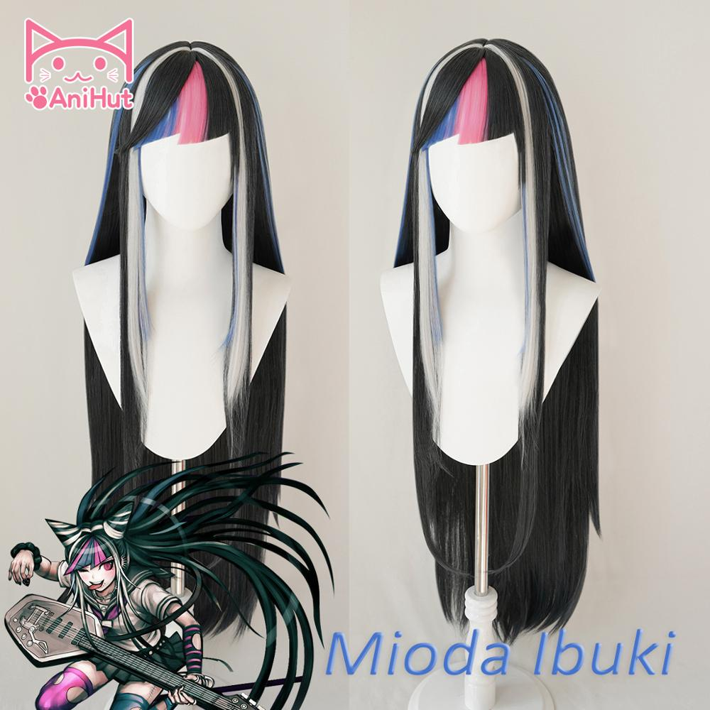 AniHut Mioda Ibuki Wig Danganronpa Cosplay Wig Anime Cosplay Hair Synthetic Heat Resistant Women Hair Mioda Ibuki Cosplay
