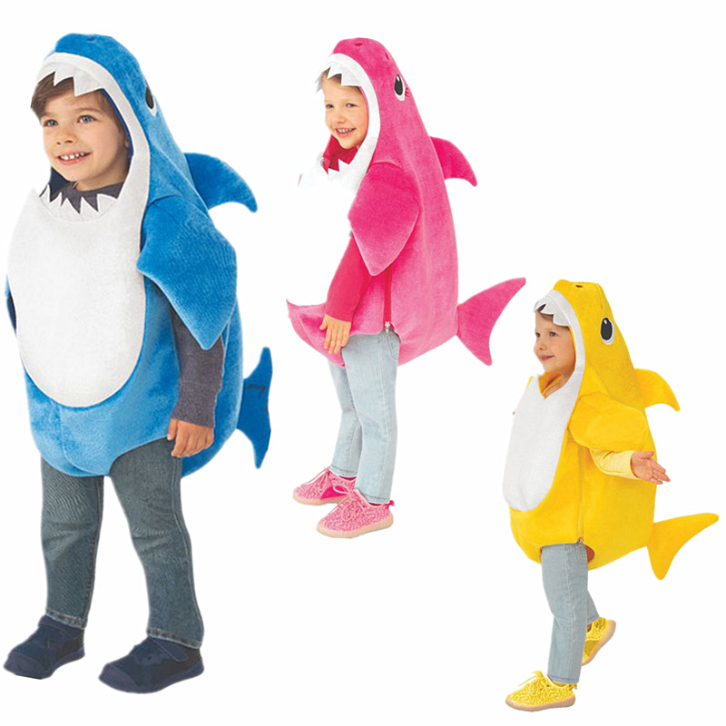 3 Colors New Arrival Unisex Toddler Family Shark Kids Halloween 3D Anime Cosplay Baby Costumes Child  Prom