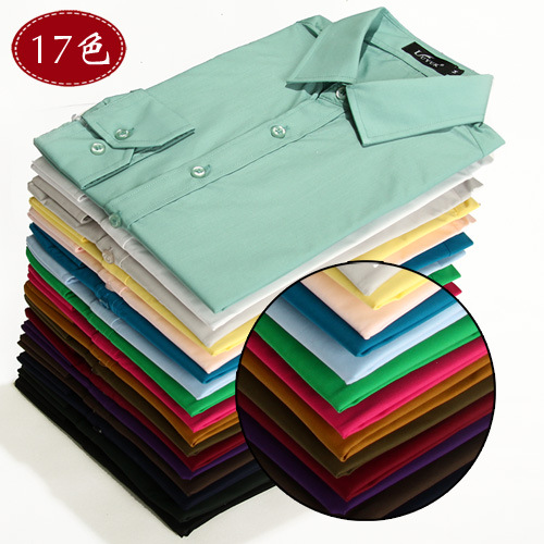 New Style Boutique Anti-wrinkle Business Casual Men Shirt 17 Color Annual Craft Fashion MEN'S Shirt 6492