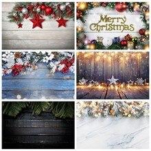 Natal de madeira pano de fundo bola presente pinheiro grinalda pranchas placa ano novo festa do bebê fundos fotográficos photocall photo studio