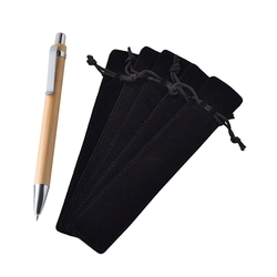 70 sztuk akcesoria: 50 sztuk aksamitne etui na długopis rękaw uchwyt pojedyncze pióro torba Case i 20 sztuk Luffa długopis zestaw długopisów długopis bambusowy