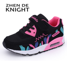 Summer Girls Sneakers For Children Casual Shoes Kids Sneakers Girls Shoees Cushion Sport Running Breathable Mesh Tenis Infantil cheap 13-24m 25-36m 7-12y 12+y Mesh (Air mesh) CN(Origin) Four Seasons Rubber Latex Fits true to size take your normal size Hook Loop