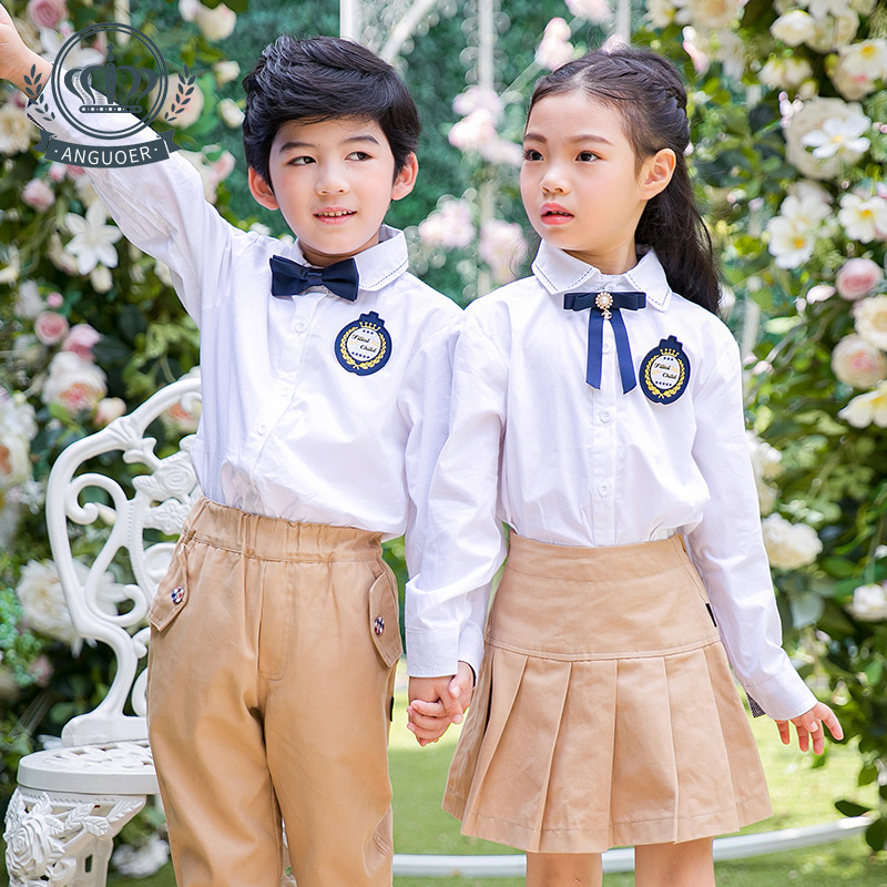 Sale Kindergarten Suit Spring And Autumn England Children New Style Girls Kaki Skirt Primary School STUDENT'S School Uniform