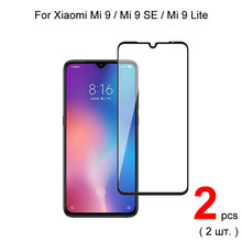 2pcs Full Cover Tempered Glass For Xiaomi Mi 9 SE / Mi 9 Pro / Mi 9 Lite Tempered Glass Screen Protector Protective Glass