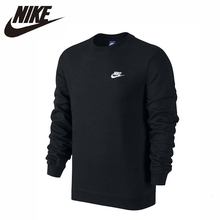 цена на Nike 2019 Original New Arrival Long Sleeve Round Neck Cotton Sportswear Leisure Time Running Pullover #804343-010