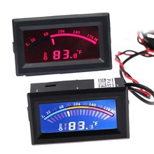 Junejour Digital LCD Pointer Thermometer Auto Wasser Temperatur Meter Gauge C/F für Computer Fall, Klimaanlage Kessel(China)