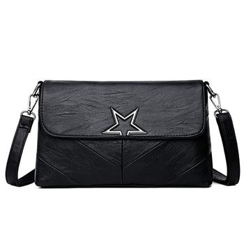 Fashion Lady Bag 2020 New Elegant Messenger Bag PU Leather Shoulder Bag Double Main Bag Durable Messenger Bag Ladies