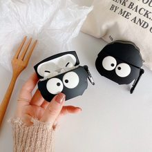 Para Apple AirPods Pro funda divertida 3D accesorios de dibujos animados negros funda de silicona para Airpods 3 Air podsPro auriculares Bluetooth(China)