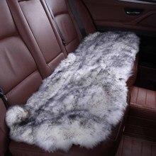 רכב פנים אביזרי רכב מושב מכסה עור כבש כרית סטיילינג פרווה 6 צבע עבור בחזרה מכסה 2015 HTD001 Bsheepskin cushioninterior accessoriescar seat cover