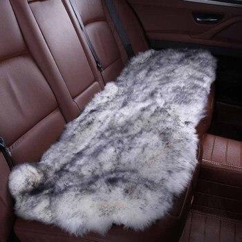 Akcesoria do wnętrza samochodu fotelik samochodowy obejmuje kożuch poduszki stylizacji futra 6 kolor na tylne obudowy 2015 HTD001-B