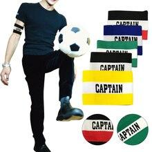 1 pz Coloful Football Soccer Captain Armband traspirante Soccer Arm Band Leader Match per forniture di allenamento di calcio