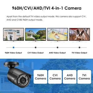 Image 2 - ZOSI 960H 1080P CVBS AHD TVI CVI CMOS Sensor Bullet CCTV Video Analog 3.6mm Home Mini HD Surveillance Camera Security Waterproof
